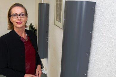 Die Plauener Amtsgerichtsdirektion Sibylle Peters: In drei Sitzungssälen wurden je zwei Luftreiniger installiert.
