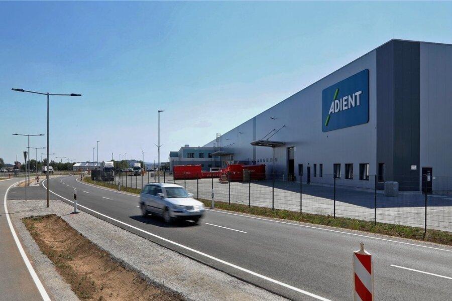 Das neue Adient-Werk im Industriepark Meerane.