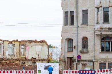 Abbrucharbeiten in Plauen: Wie auf diesem Foto, Ecke Pausaer Straße/Gustav-Freytag-Straße, hat die Stadt etliche Brachen beseitigt.