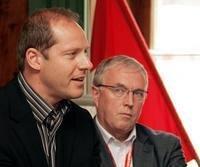 UCI-Präsident Pat McQuaid (r.) und Tour de France-Direktor Christian Prudhomme