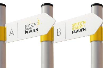So könnte Plauens neues Stadtlogo aussehen - drei Entwürfe haben es in die enge Auswahl geschafft.