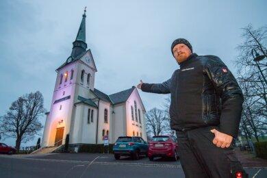 Bereits zum dritten Mal hat Stephan Boden am Wochenende das Eibenberger Lichterfest organisiert.