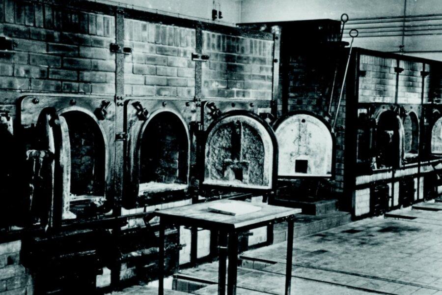 Die Brennöfen im Krematorium des Konzentrationslagers Buchenwald.