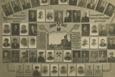 Die Opfer des Grubenunglücks vom 24. Januar 1921.