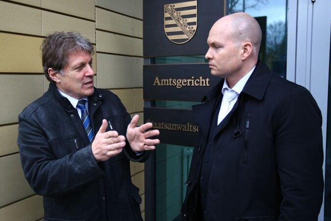 Martin Wimmer und sein Rechtsanwalt.