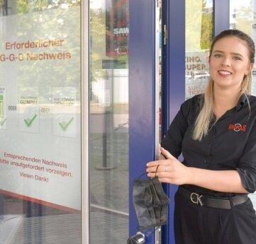 Am Kinopolis Freiberg musste zuletzt noch Carolin Wiedemann die Einhaltung der 3G-Regeln kontrollieren. Das entfällt nun.