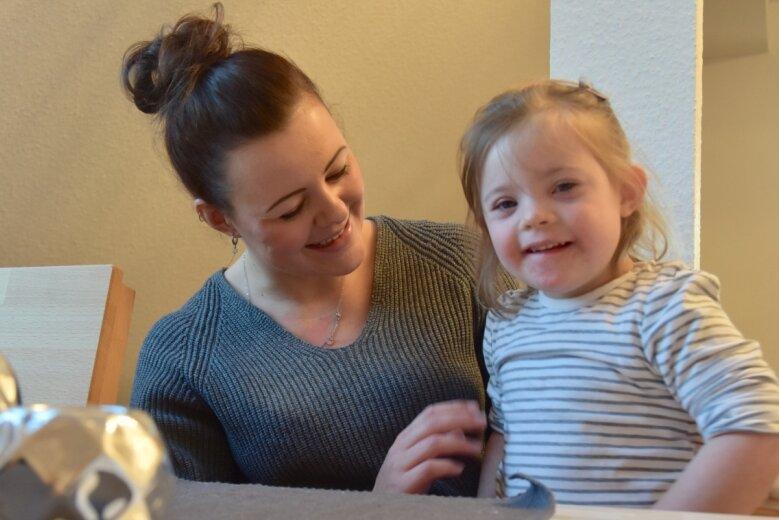 Lisa Winkler aus Limbach-Oberfrohna will für ihre vom Down-Syndrom betroffene Tochter Milou und auch sich selbst eine Eltern-Gruppe gründen. Doch Corona durchkreuzt ihre Pläne.