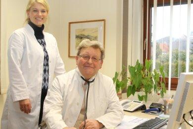 Dr. Thomas Klotz und Tochter Dr. Susanne Steinert waren viele Jahre ein eingespieltes Team.