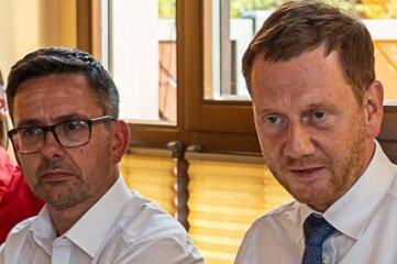 MdL Sören Voigt und MP Michael Kretschmer.