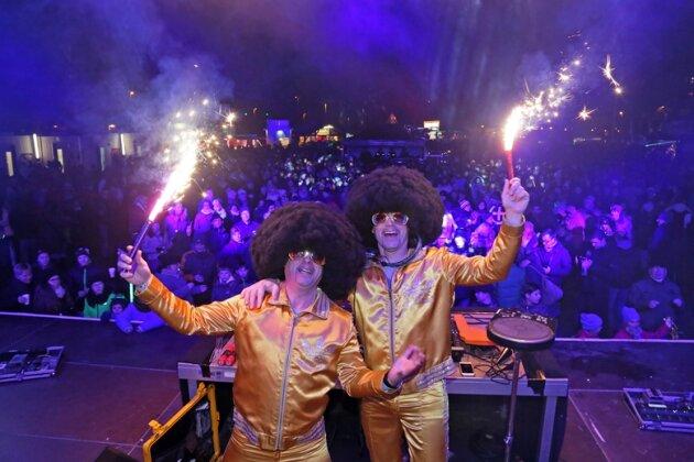 Disco Dice begeisterten mit viel Musik und flotten Sprüchen die Partygäste.