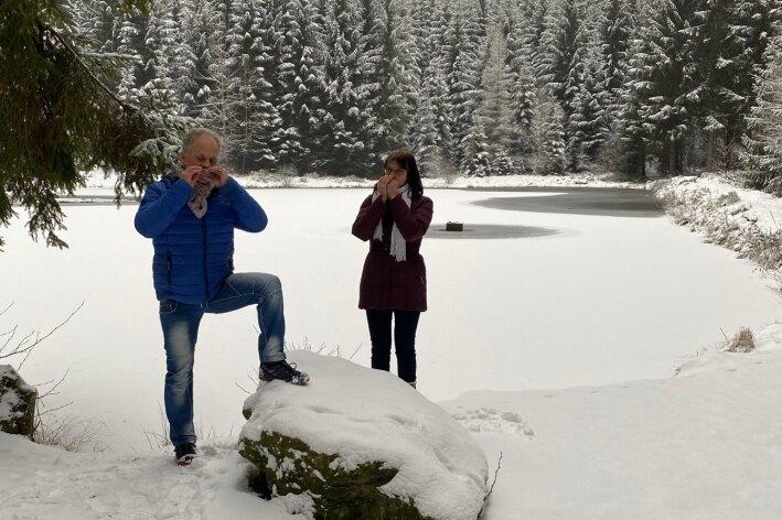 Video-Dreh im Hüttenbachtal
