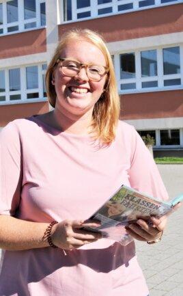 Den Schulhof des Flöhaer Förderschulzentrums kennt Susann Böttrich bereits - hier absolvierte sie während des Studiums ein Praktikum. Sie will besondere Herausforderungen mit Schülern meistern.