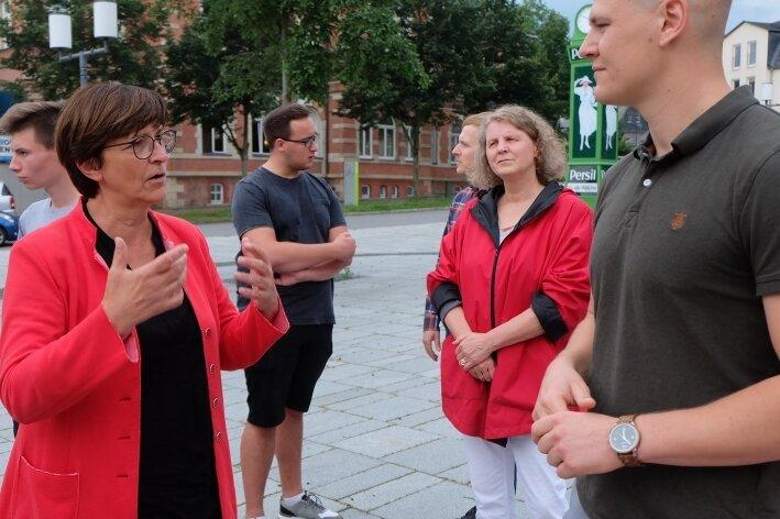 Politikertreff in Oelsnitz