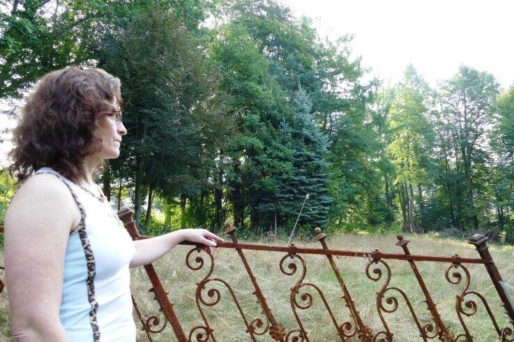 Vor einem Jahr blickte Kerstin Grimm auf ein Nachbargrundstück, das neben einer Wiese auch einen kleinen Wald zu bieten hatte.