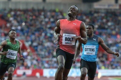 Bolt nimmt an einem Mannschafts-Wettbewerb teil
