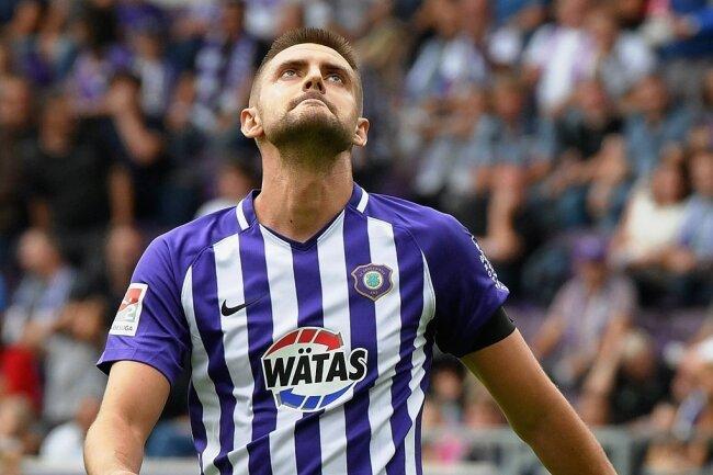 Dimitrij Nazarov und sein FC Erzgebirge warten in dieser Saison noch auf das erste Erfolgserlebnis.