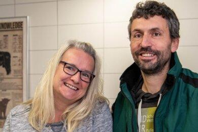 Erst vor wenigen Tagen haben Anja und Rocco Uhlemann auf ihrem Hof in Schlaisdorf einen Hofladen eröffnet.