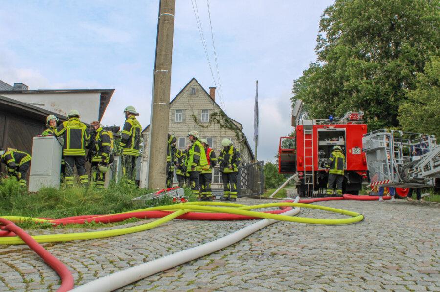 In Oelsnitz ist am Mittwoch in einer Küche ein Feuer ausgebrochen.