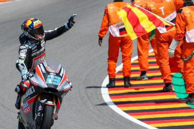 Moto2-Pilot Marcel Schrötter fuhr auf den sechsten Rang.