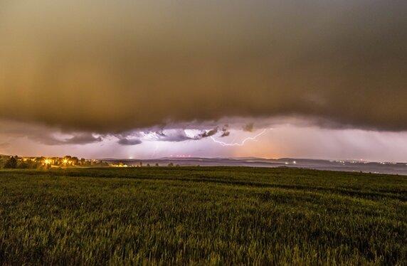 Schwere Gewitter ziehen am Abend über Sachsen