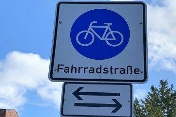 Eine Fahrradstraße in Reichenbachs Partnerstadt Nordhorn.