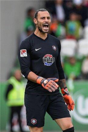 Daniel Haas hütet gegen Hamburg das FCE-Tor.