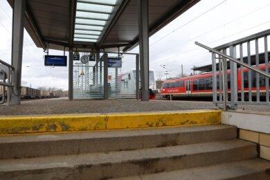 An den Gleisen in Glauchau sind Umbauarbeiten geplant.