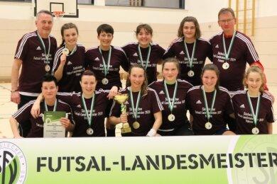 Futsal-Landesmeister: Die Frauen des DFC Westsachsen Zwickau.