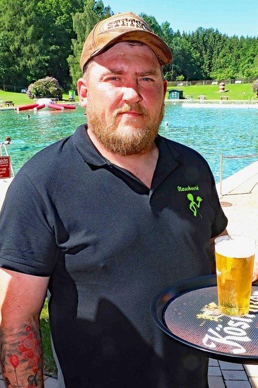Nico Nüßner ist neuer Pächter des Kiosks im Leubnitzer Waldbad.