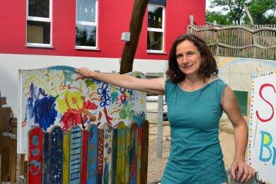 """Anja Hübler ist im Kindergarten """"Springbrunnen"""" in Hainichen als Koordinatorin für das Eltern-Kind-Zentrum tätig."""