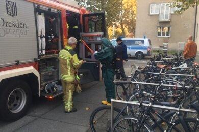 Feuerwehreinsatz am Landtag.