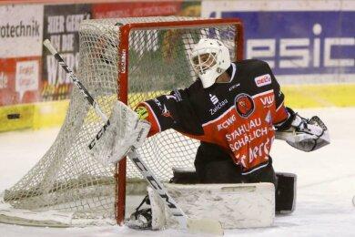 Für Torwart Ilya Andryukhov vom Eispiraten-Zweitligisten Eispiraten Crimmitschau ist die Saison gelaufen.