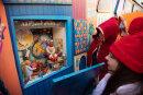 Am Samstag wurde die Wichtelstadt am Rande des Weihnachtsmarktes eröffnet.
