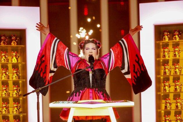 Netta aus Israel gewinnt den 63. Eurovision Song Contest in Lissabon.