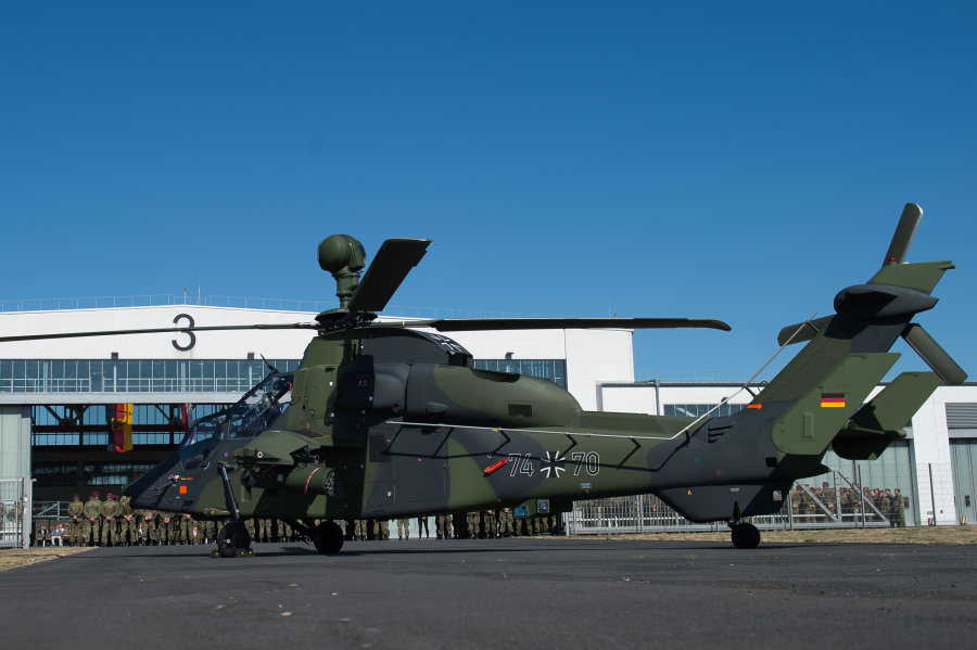 """Der Kampfhubschrauber """"Tiger"""" gehört zu den modernsten Großgeräten der Bundeswehr."""