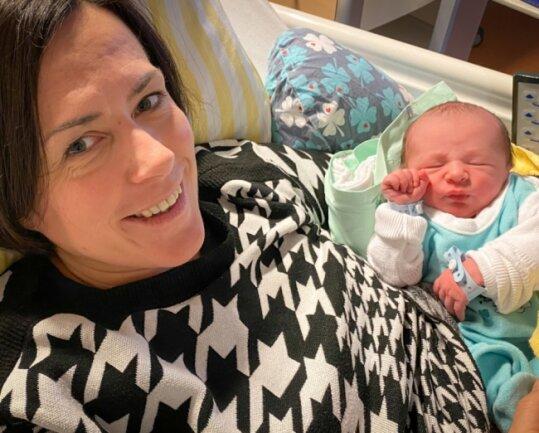 Nadine Singer brachte am 18. Dezember den kleinen Fritz auf die Welt - einer von mehr als 1500 Neugeborenen im Vogtland in diesem Jahr.