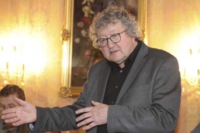 Werner Patzelt bei einer CDU-Veranstaltung in Plauen.