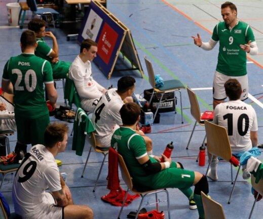 Spielertrainer Michal Salak (Nummer 9) und sein Team stehen nach dem Aus in der Champions League vor der nächsten Herausforderung. Sie wollen sich für die erste Saison der Futsal-Bundesliga qualifizieren.