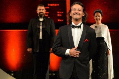 """Die Operngala """"Eine Zeitreise"""", hier mit Tenor Frank Unger (vorn), Bassbariton Sergio Raonic Lukovic und Sängerin Susanne Engelhardt, wird in dieser Spielzeit wieder zu erleben sein."""