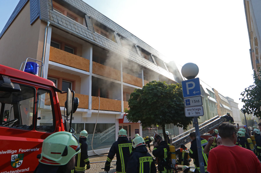 Wohnungsbrand in einem Mehrfamilienhaus