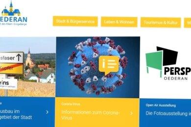 Zahlreiche Informationen können die Oederaner auf der neu gestaltetenInternetseite ihrer Stadt finden.