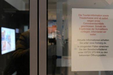 Die Tourist-Information am Freiberger Schlossplatz bleibt bis auf weiteres geschlossen.