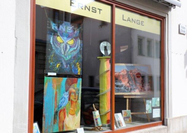 Mit einer Schaufensteraktion machte die Künstlergruppe im Mai stadtweit auf sich aufmerksam.