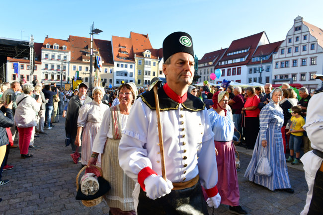 Die Parade führte unter anderem über den Obermarkt