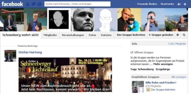 """Alte Schreckgespenster: Screenshot der Facebook-Gruppe """"Schneeberg wehrt sich""""."""