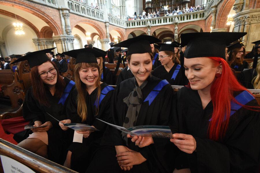 Zur Graduiertenfeier in der St. Petrikirche erschienen rund 300 Absolventen.