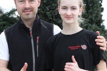 Marbele Pfaff und Landestrainer Alexander Reinhold sind ein starkes Team.