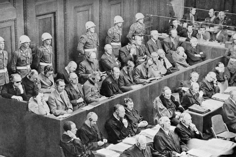 Während der Nürnberger Prozesse werden 1945 und 1946 insgesamt 177 Urteile gesprochen.