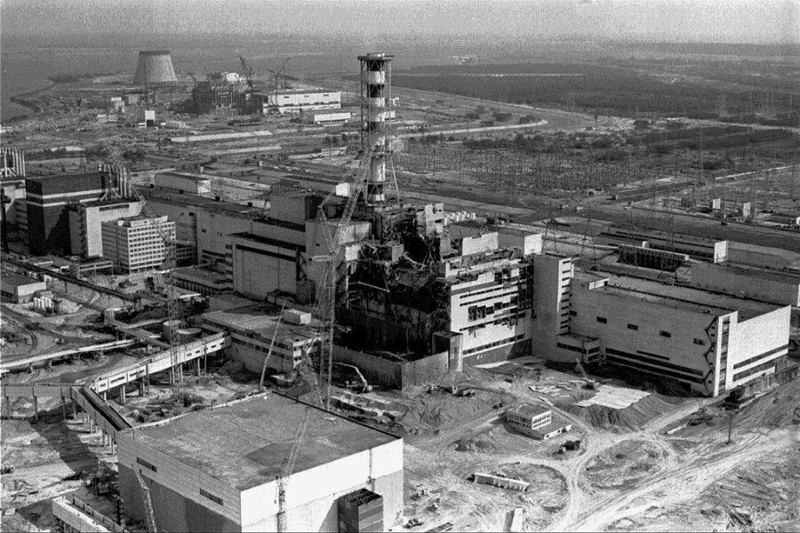 Das Atomkraftwerk nach der Katastrophe.