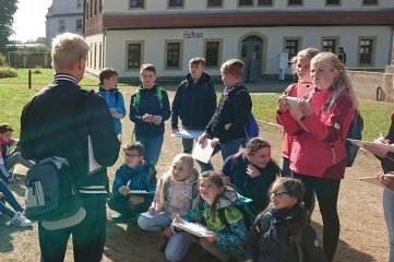 Auch auf dem Areal der Alten Mordgrube (heute Zugspitze) recherchierten die Schüler.